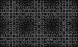 Serra de vaivém preta de 375 partes dos enigmas - vetor Imagens de Stock Royalty Free