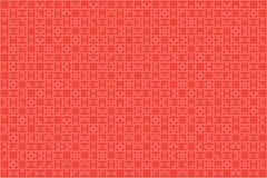Serra de vaivém vermelha das partes dos enigmas - fundo do vetor Fotografia de Stock Royalty Free