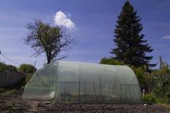Serra del giardino con la struttura del metallo Fotografia Stock Libera da Diritti