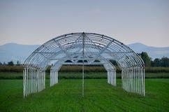 Serra della tenda della costruzione di agricoltura Fotografia Stock Libera da Diritti