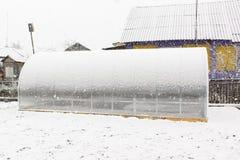 Serra e neve Immagine Stock Libera da Diritti