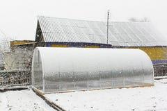 Serra e neve Fotografia Stock