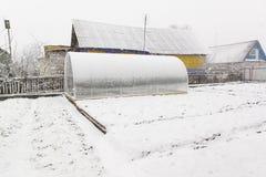 Serra e neve Fotografia Stock Libera da Diritti