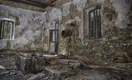 Serra elétrica abandonada Foto de Stock