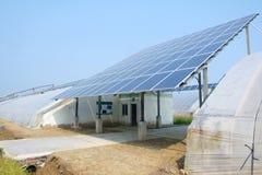 Serra a energia solare Immagini Stock