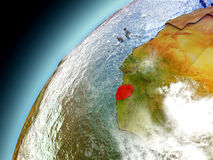 Serra Leoa da órbita de Earth modelo Imagem de Stock