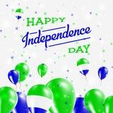 Serra Leone Independence Day Patriotic Design ilustração stock