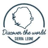 Serra Leone Map Outline O vintage descobre ilustração do vetor