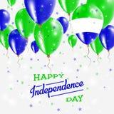 Serra Leone Vetora Patriotic Poster Imagem de Stock