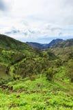 Serra Malagueta mountains in Santiago Island Cape Verde - Cabo V Stock Photos