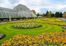 Serra nei giardini botanici di Kew, Londra, Regno Unito fotografia stock libera da diritti