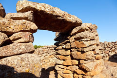 Serra Orrios Nuragic Village. Ancient megalithic Serra Orrios Nuragic Village in Sardinia, Italy stock image
