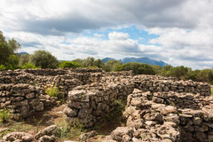 Serra Orrios. The Village of Serra Orrios Is the largest Nuraghic settlement on the island of Sardinia Stock Photography