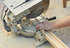Serra portátil da mitra, ferramentas elétricas do woodworking Foto de Stock