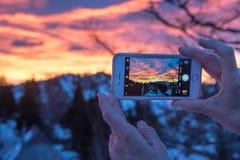 Serrage d'un moment Photographie stock libre de droits
