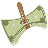 Serrage de la métaphore de ceinture Images stock