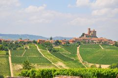 Serralunga d alba  vineyards italy Stock Images