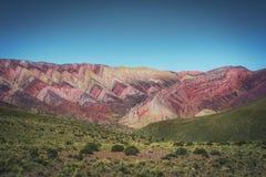 Serrania de Hornocal, les quatorze collines de couleurs chez Quebrada de Humahuaca - Humahuaca, Jujuy, Argentine images libres de droits