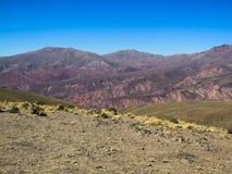 Serrania de hornocal w humahuaca zdjęcia royalty free