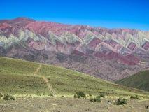 Serrania de hornocal w humahuaca fotografia stock