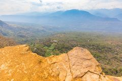 Serrania National Park and Guane River panoramic view from Barichara royalty free stock images