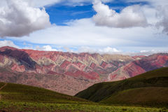 Serranias del Hornocal, colored mountains, Argentina Royalty Free Stock Photo
