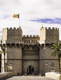 Serrano Gate, Valencia, Spain Stock Photo