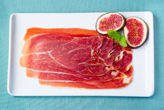 Serrano Ham with Figs Royalty Free Stock Image