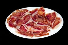 Serrano ham, ham, typical and delicious Spanish food Stock Photo