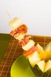 Serrano ham with melon Royalty Free Stock Photos