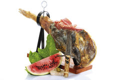 Serrano ham and melon Royalty Free Stock Image