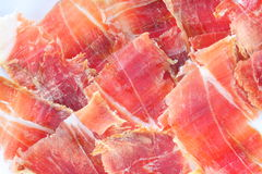 Serrano ham plate Royalty Free Stock Images