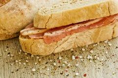 Serrano ham sandwich Royalty Free Stock Images
