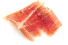 Serrano ham slice Royalty Free Stock Image