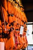 Serrano Ham Stall Photographie stock libre de droits