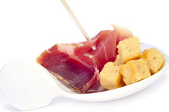 Serrano ham tapas Royalty Free Stock Photos