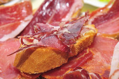Serrano ham tapas Stock Photography