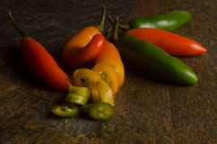 Serrano hot peppers Stock Photography