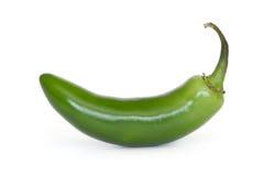 Serrano pepper. Isolated on white stock image