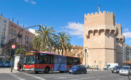 Serrano towers in Valencia city, Spain Stock Images