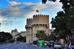 Serrano towers, Valencia old city, Spain Royalty Free Stock Image