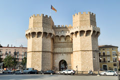 Serrano Towers  in Valencia, Spain. Stock Image