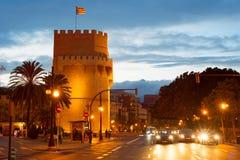 Serrano Towers, Valencia, Spain Royalty Free Stock Images