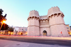 Serrano Towers in Valencia, Spain. Royalty Free Stock Image
