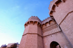 Serrano Towers in Valencia, Spain. Royalty Free Stock Photo