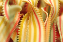Serrated strips of pasta ribbons Stock Images