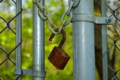 Serratura arrugginita fotografia stock libera da diritti