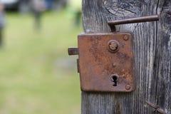 Serratura arrugginita 1 Fotografie Stock Libere da Diritti