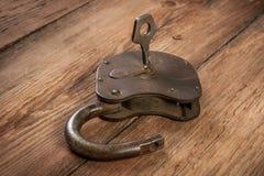 Serratura chiave ed arrugginita Immagini Stock Libere da Diritti