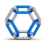 Serratura, collegamento, gruppo, concetto di associazione - icona del collegamento a catena isolata su bianco Fotografie Stock